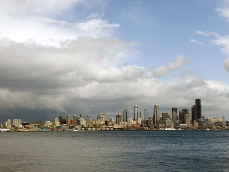 View of Seattle, WA, from Alki Point